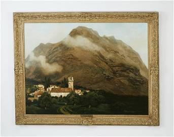 Signed Henry Pember Smith O/c mountain landscape