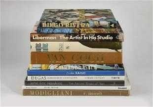 (11) Art history coffee table books, Van Gogh, Degas