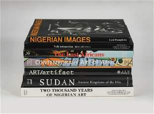 (7) African art and culture coffee table books