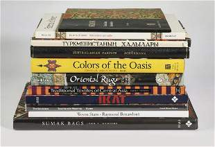 (11) Fine carpets and textiles coffee table books