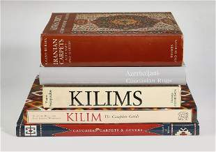 (5) Fine carpets and rugs coffee table books