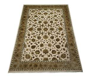 Sino-Sultanabad hand knotted silk and wool carpet