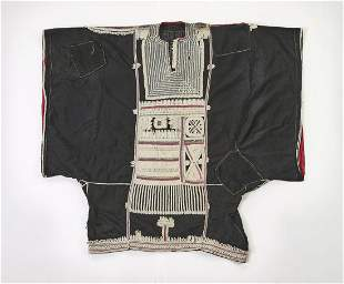 """African embroidered cotton tunic, 50""""w"""