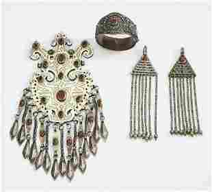 (3 pcs) Early 20th c. Central Asian jewelry