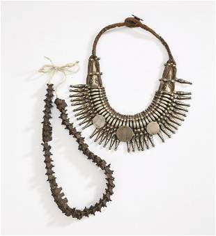 Two pieces of ethnographic jewelry, Tibet and Nepal