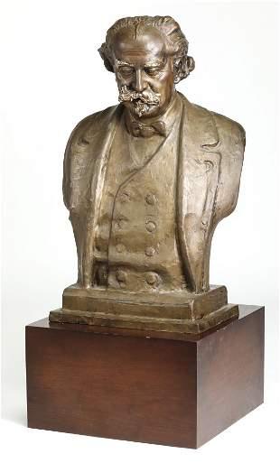 Ferdinand Liebermann life-size bronze of gentleman
