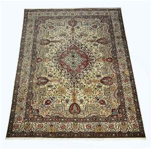 Hand knotted wool Indo-Persian carpet, 13 x 10