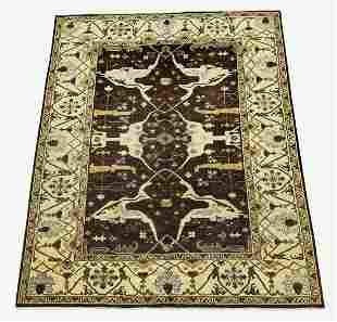 Hand knotted wool Indo-Oushak rug, 12 x 10