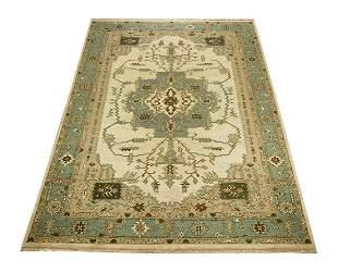 Hand woven wool Indo-Soumak carpet, 14 x 10