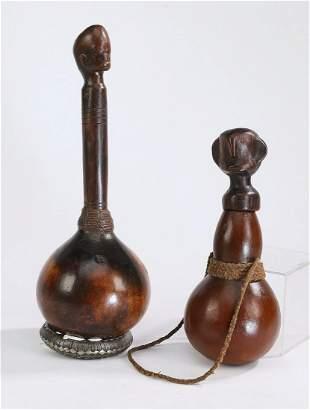 (2) Luba figural gourd medicine bottles