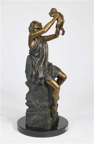 Laran Ghiglieri 'First Born' signed, numbered bronze