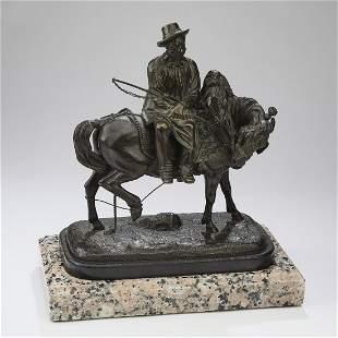 Thomas Gechter signed 19th c. bronze sculpture