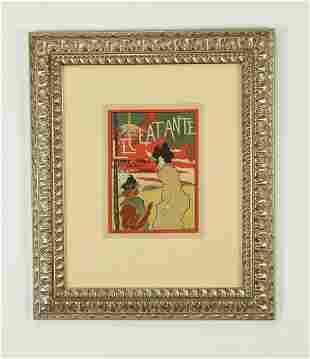 Manuel Robbe 'L'Eclatante' litho, circa 1900