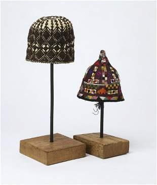 (2) Tekke cotton and silk men's caps
