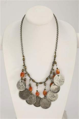 Early 20th c. Central Asian necklace