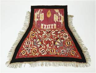 Hand worked Central Asian saddle blanket