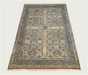 Palace size Indo-Persian panel garden carpet,18' long