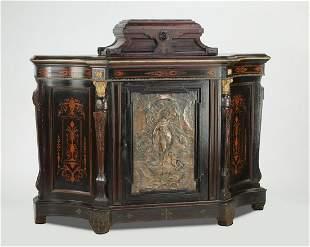 Attr. to Pottier & Stymus, bronze mounted cabinet