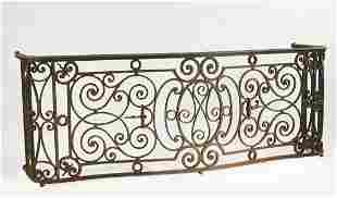 19th c. French wrought iron architectural element