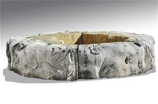 Carved Italian limestone surround