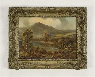 Signed Sidney Yates Johnson (British) O/c landscape