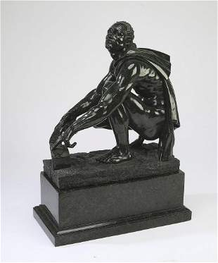 19th c. carved marble sculpture of Hephaestus