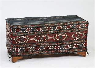 Late 19th c. hand woven Karabagh mafrash w/ trunk