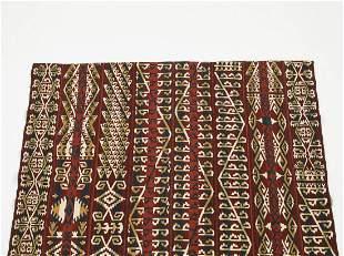 Hand woven wool Uzbek kilim, 5 x 6
