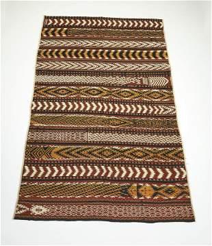 Hand woven wool Uzbek kilim, 11 x 7