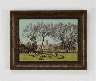 Signed William Baptiste Baird O/c pastoral landscape