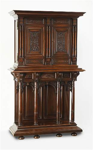 19th c. French Renaissance Revival court cupboard