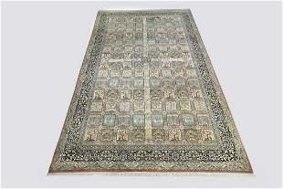 Palace size Indo-Persian panel garden carpet, 24' l