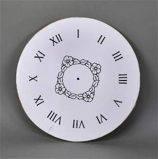 """Carved marble clock face, 24""""dia"""