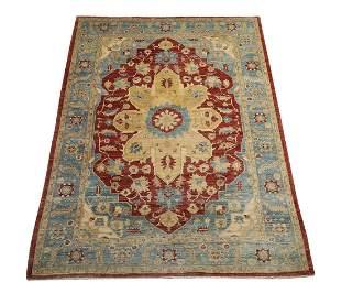 Pakistani hand knotted wool rug, 12 x 9