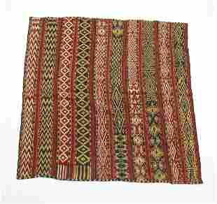 Hand woven wool and cotton Persian kilim, 6 x 5