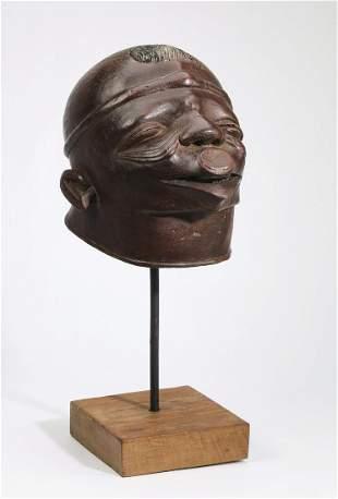 Makonde hand carved wooden helmet mask
