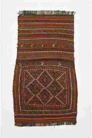 Hand woven wool on wool Northwest Persian saddle bag