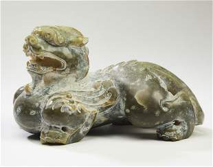 Chinese carved jade Ming style dragon