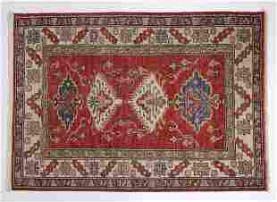 Hand knotted wool Turkish carpet, 5 x 4