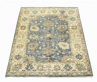 Hand knotted wool Indo-Oushak carpet, 10 x 8
