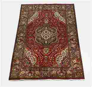Hand knotted wool Persian Tabriz, 9 x 7