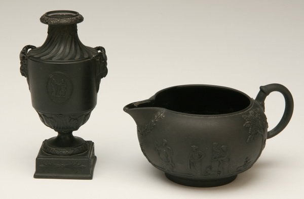 3: Two pieces of Wedgewood basalt