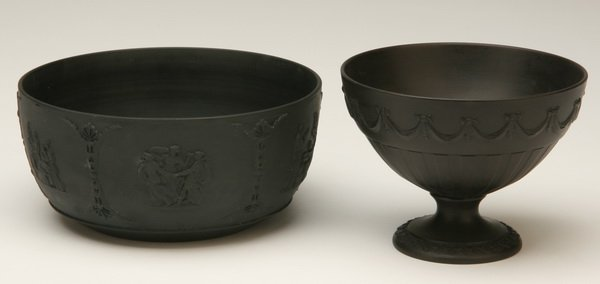 4: Two pieces of Wedgewood basalt