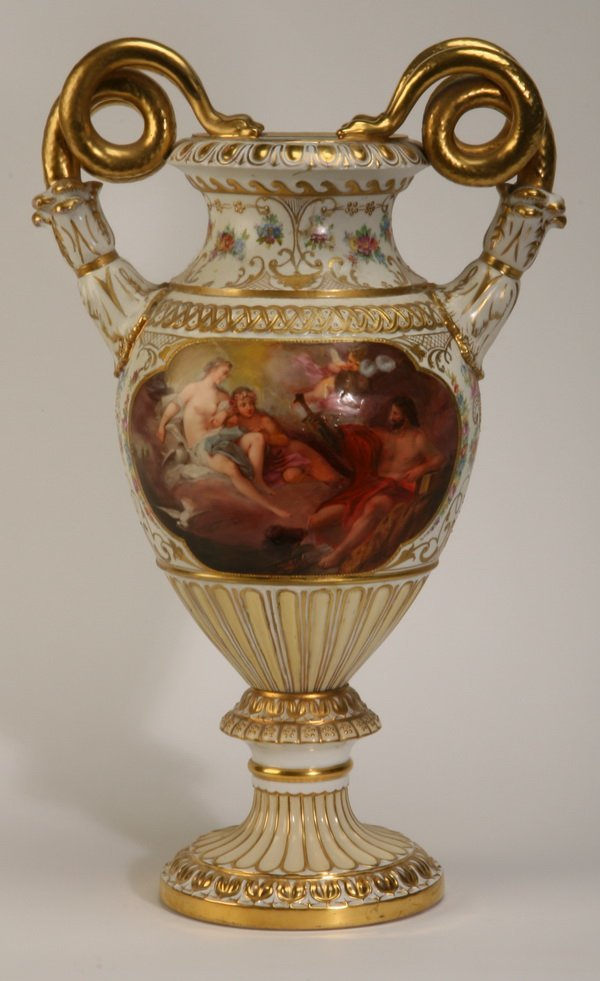 6: 19th c. Royal Vienna porcelain vase