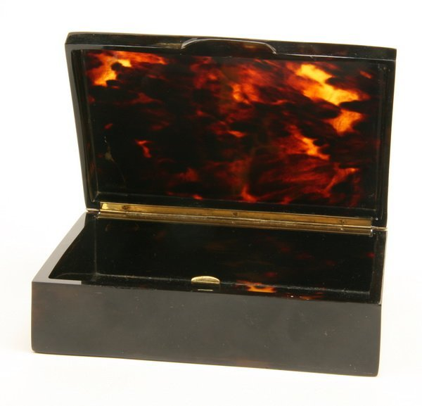 7: 19th c. tortoiseshell box