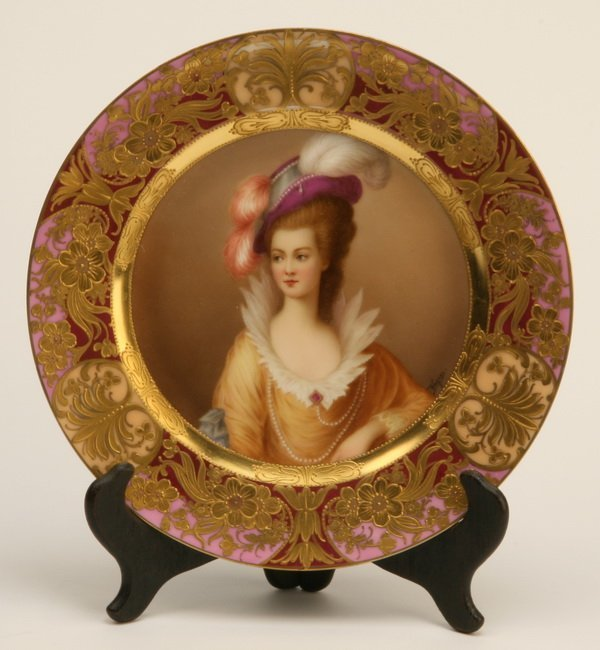 8: 19th c. Royal Vienna portrait plate