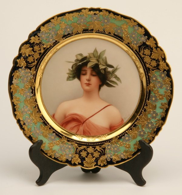 9: 19th c. Royal Vienna portrait plate