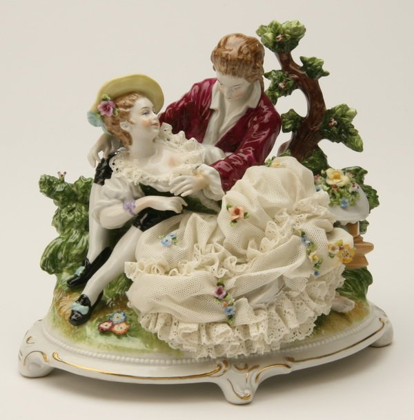 11: German porcelain figural grouping