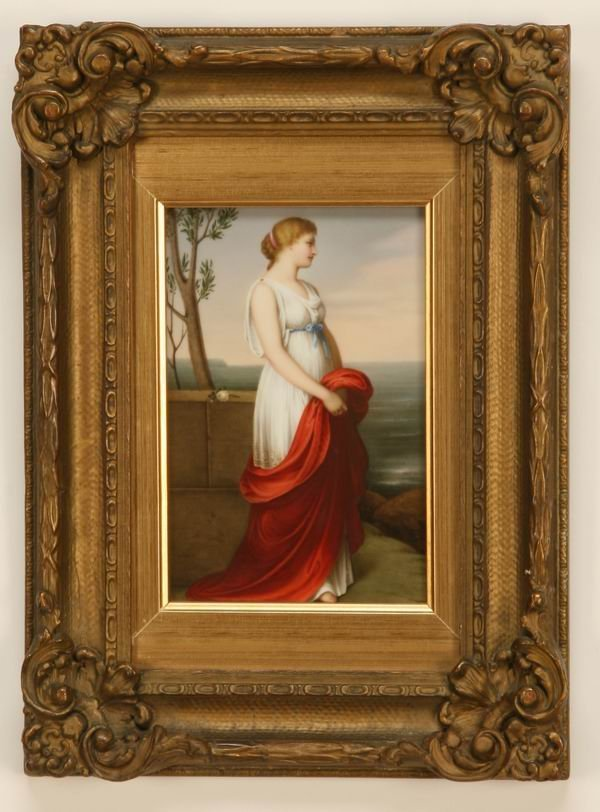 19: 19th c. German porcelain plaque