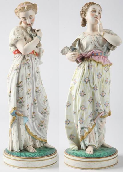 20: Pair of late 18th c. Sevres porcelain figures